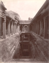 The baoli or step-well on the side of the Agra road near Hakim's Baths, Fatehpur Sikri